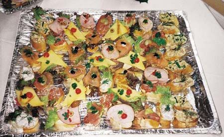 Beispiel: Buffetplatte, Foto: Der Legienhof.