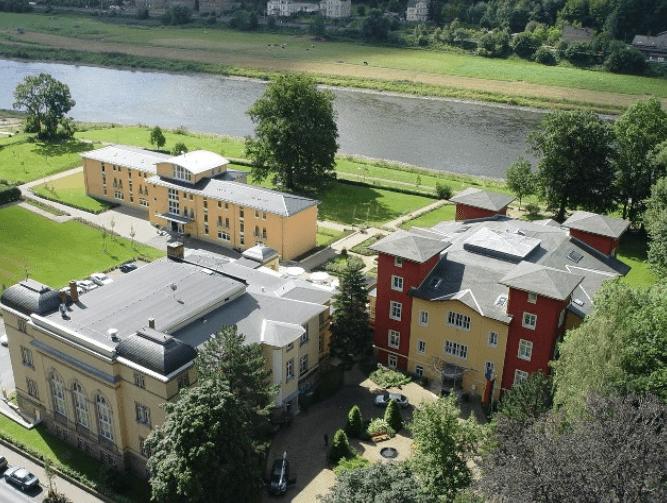Blick von oben, Foto: Parkhotel Bad Schandau