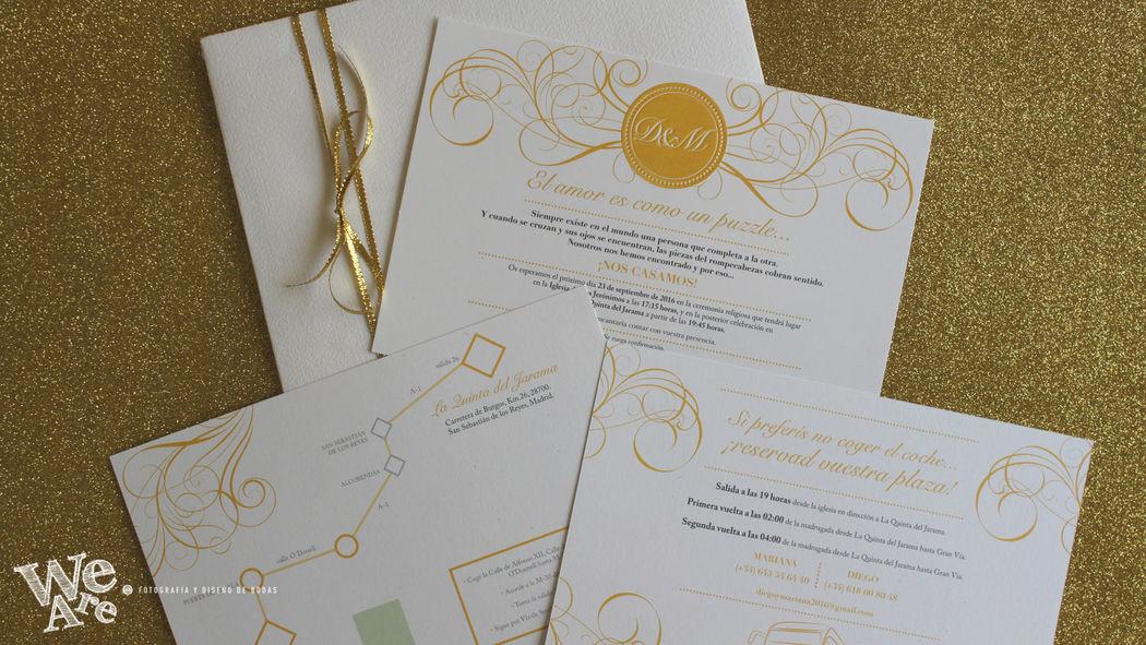 Invitaciones de Boda Glitter. We Are