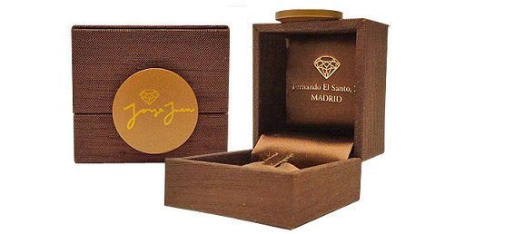 Caja de Raso con Logo Jorge Juan Joyeros