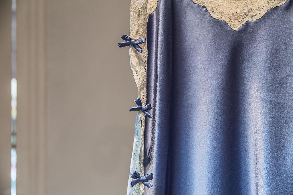 Camisón Goya raso azulón