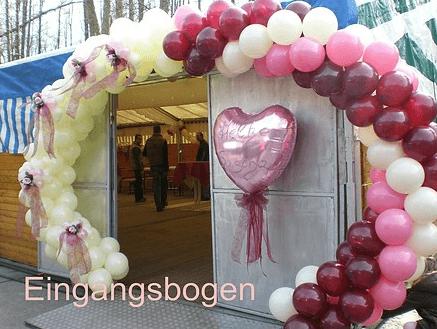Beispiel: Eingangsbogen Ballons, Foto: Balloonia.