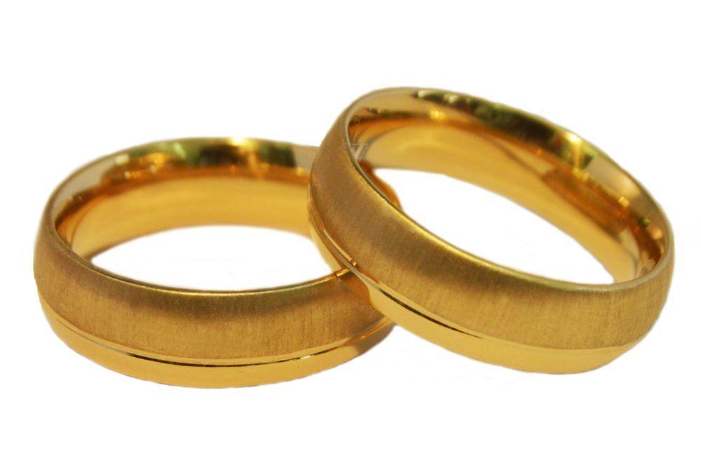 Alianças Casamento Ouro Amarelo ALC77