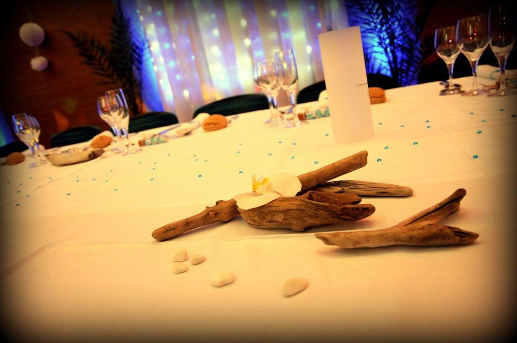 Détail de déco pour la table des mariés, par Catalan Events