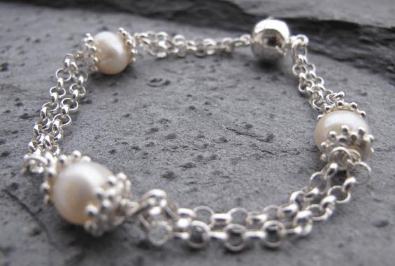 Perlenarmband Carinissima von perlaprincipessa