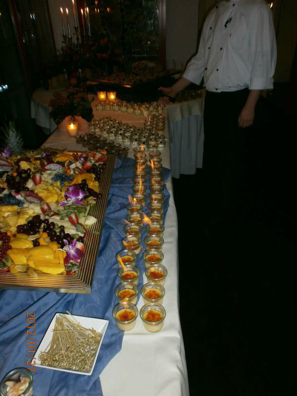 Beispiel: Hochzeitsbuffet, Foto: Alsterköche im Ruderclub Favorite Hammonia.