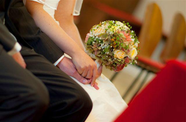 Beispiel: Brautstrauß, Foto: Blumen Malecek.