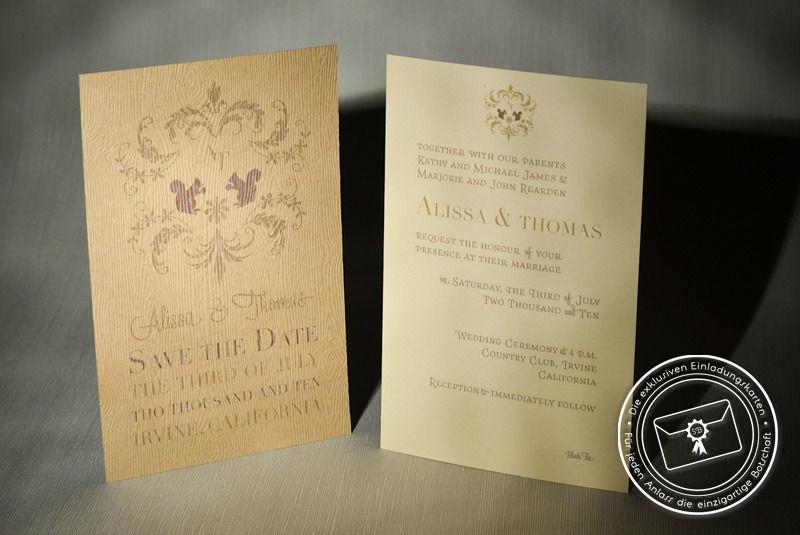 Beispiel: Save-the-date Karten, Foto: Die exklusiven Einladungskarten.