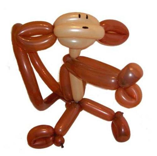 Beispiel: Ballonfigur: Affe, Foto: Ballonkünstler Markus Kaufmann.