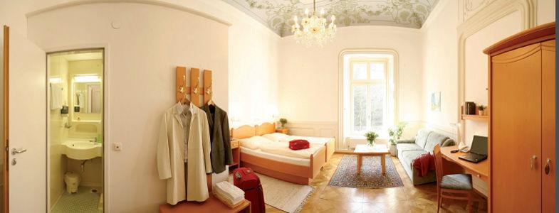 Beispiel: Doppelzimmer, Foto: Villa Raczynski.