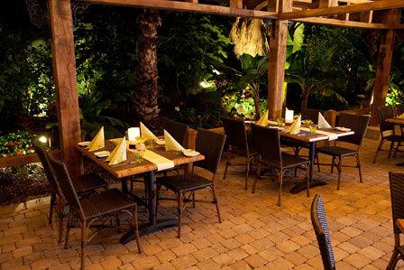 Beispiel: Pangung Restaurant, Foto: Pangung Tropengarten und Ryokan Seeterrassen.