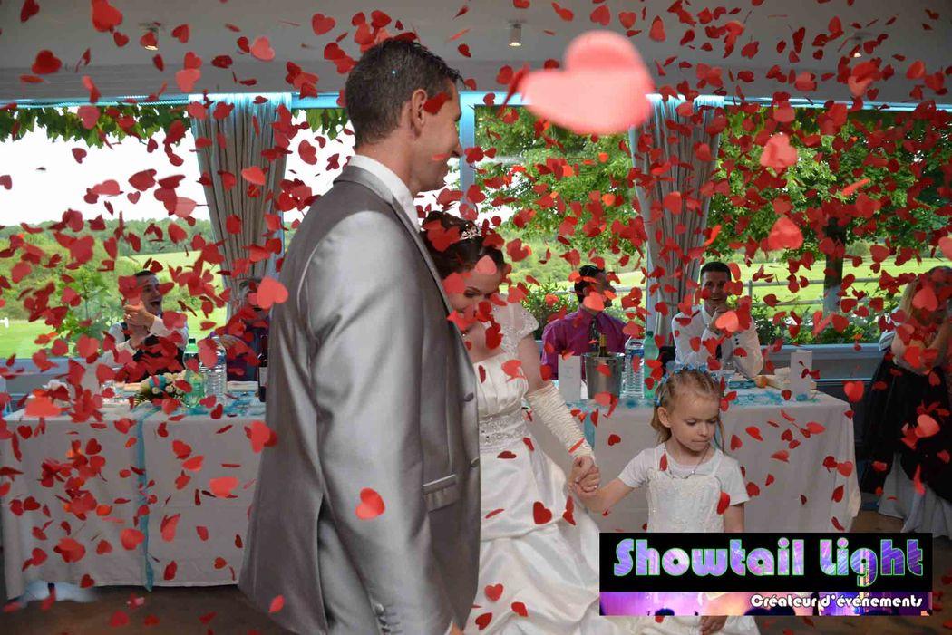 Entrée des mariés dans la salle de réception de Mariage