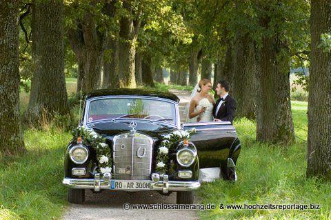 Beispiel: Hochzeitsauto, Foto: Schloss Amerang.