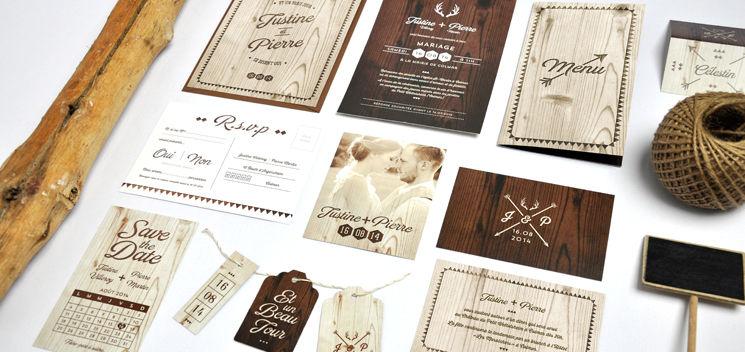 Invitation de mariage Natura (collection disponible chez Print Your Love)