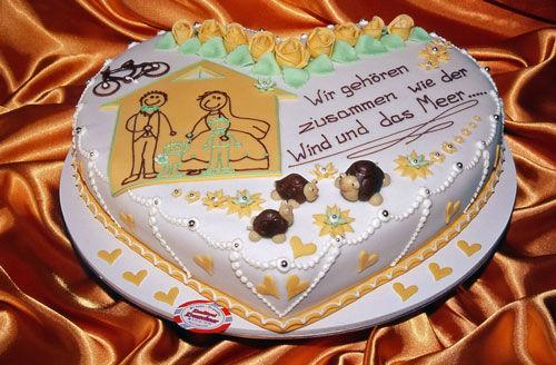 Beispiel: Hochzeitstorte, Foto: Konditorei Kreuschner.