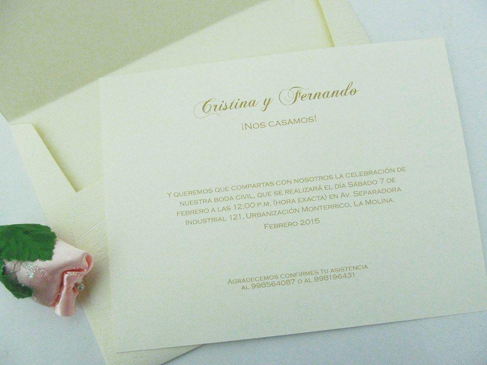 Cod.PAG102-15 Sobre gofrado de 18 x 13 cm, ideal para una boda civil.