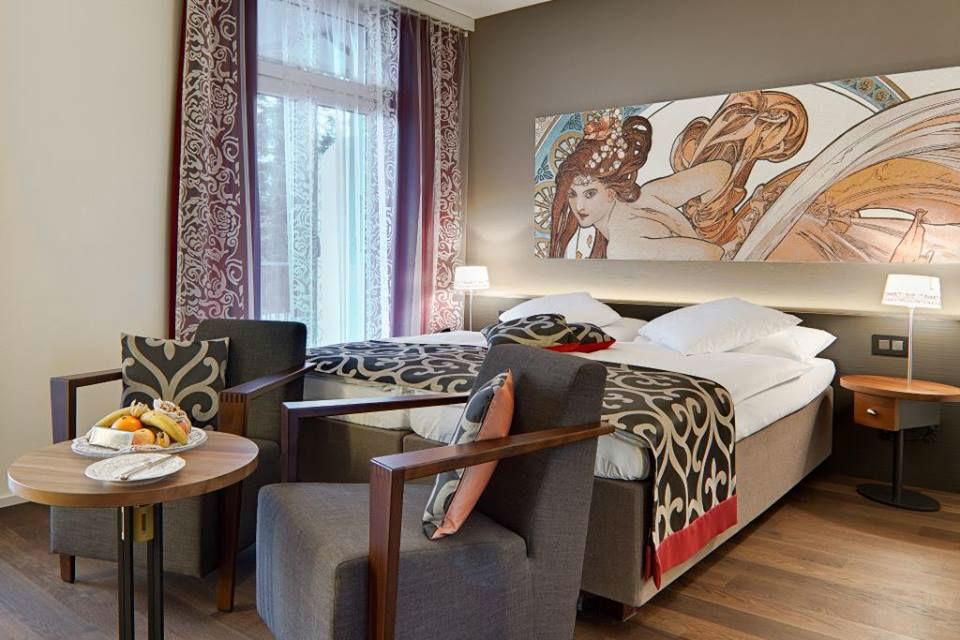 Beispiel: Doppelzimmer, Foto: Belvédère Strandhotel & Restaurant.