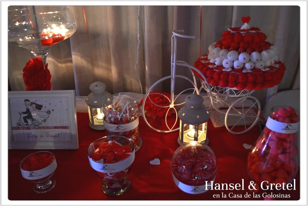 Candy bar Rojo & Blanco