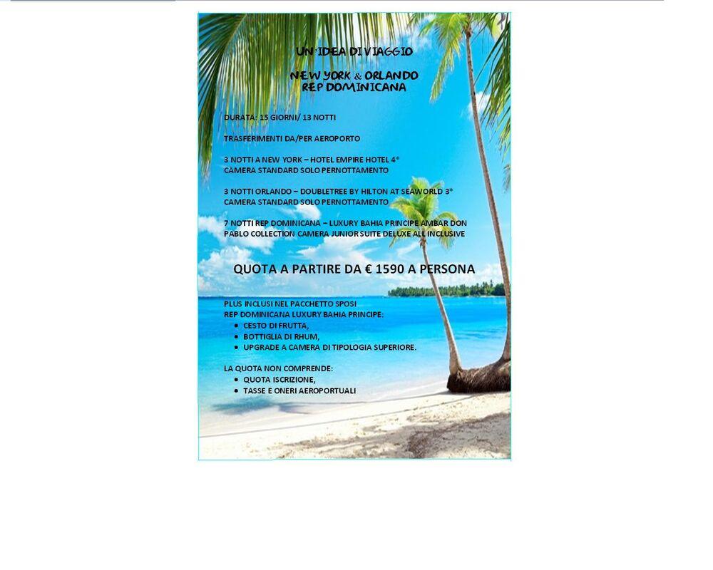 Idea di viaggio di nozze New York Orlando Rep Dominicana
