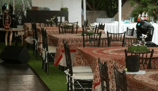 Vanguardia en montaje de bodas y uso de color para banquetes - Foto Dans le monde
