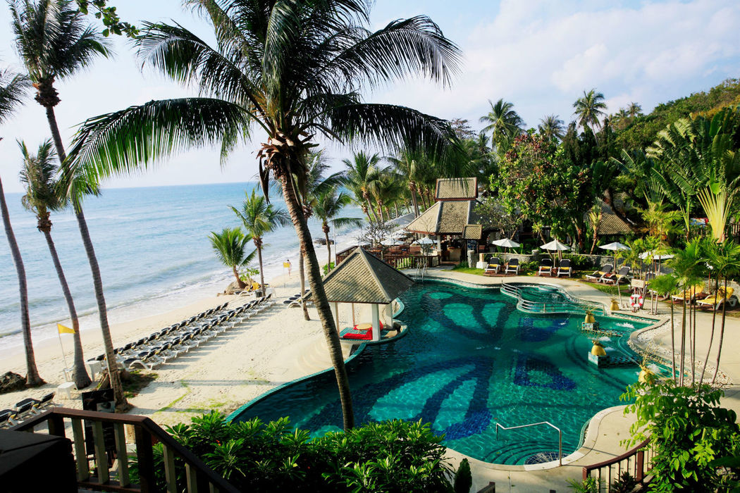 Sonne, Strand, Meer und eine kleine im thailändischen Stil erbaute Hotelanlage - Centara Villas Samui- Thailand, Foto: Centara Hotels and Resorts.