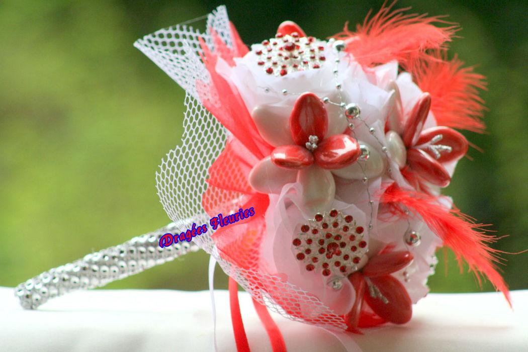 Dragées Fleuries Bouquet de mariée avec bijou