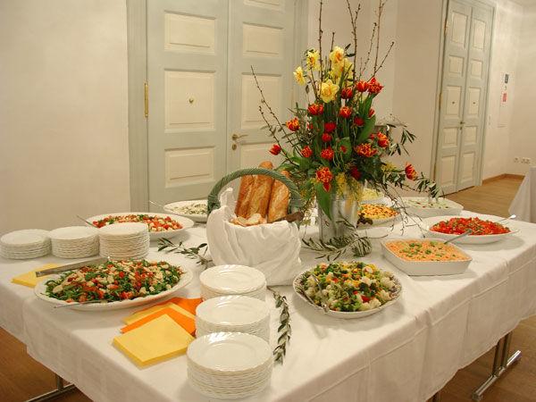 Beispiel: Buffetgestaltung, Foto: Metzgerei Huber.