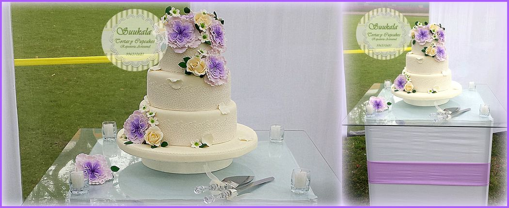 Torta vintage Rosas Irlandesas Lila Cake frutado al whisky