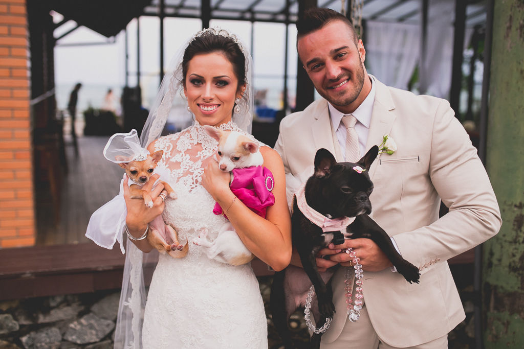 A participação dos pets no casório. Foto: Noz Fotografia