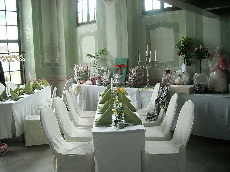 Beispiel: Hochzeitstisch, Foto: Burg Gnandstein.