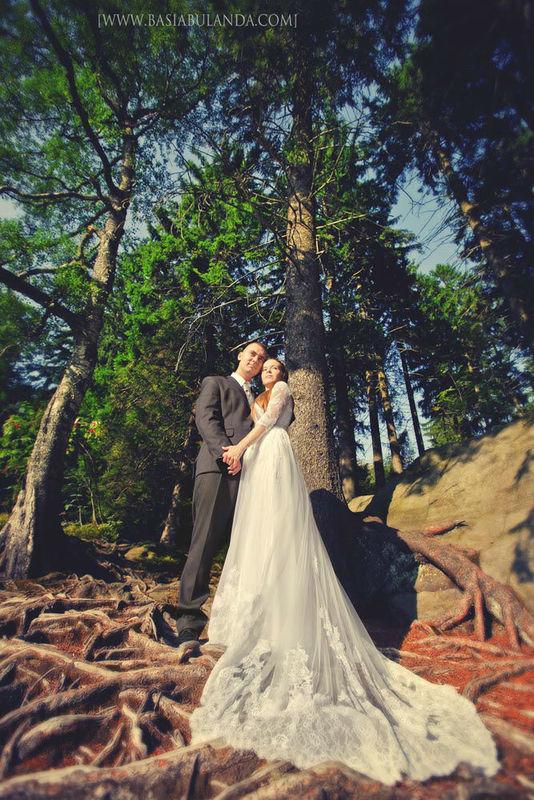 górski plener ślubny