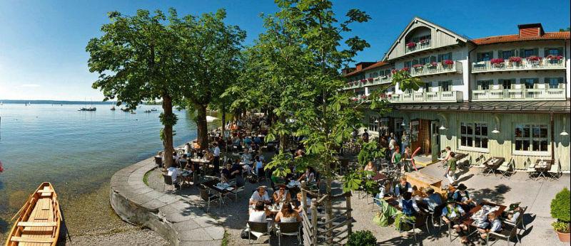 Beispiel: Seehof im Sommer, Foto: Hotel Seehof Herrsching.