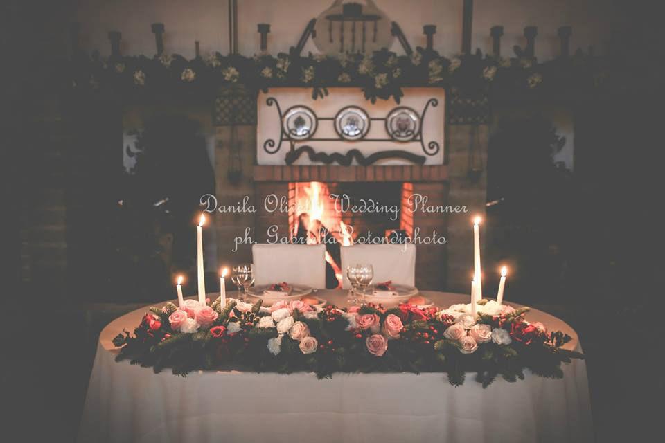 Danila Olivetti - winter wedding - tavolo d'onore