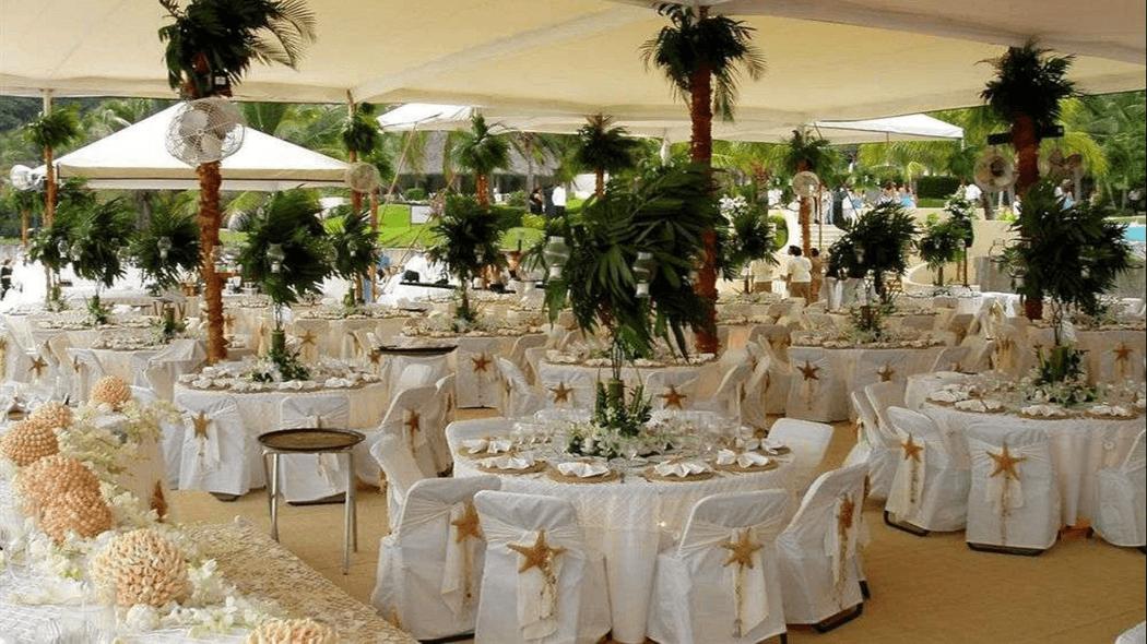 Montaje de boda en playa