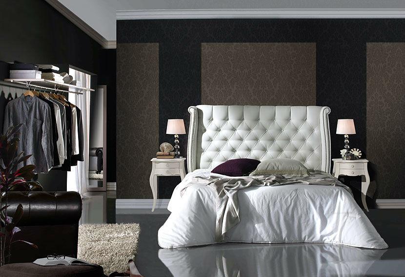 Cabecero Piel Castle  Este cabecero tapizado Castle puede realizar en piel sintética, piel reciclada, piel flor o tela.