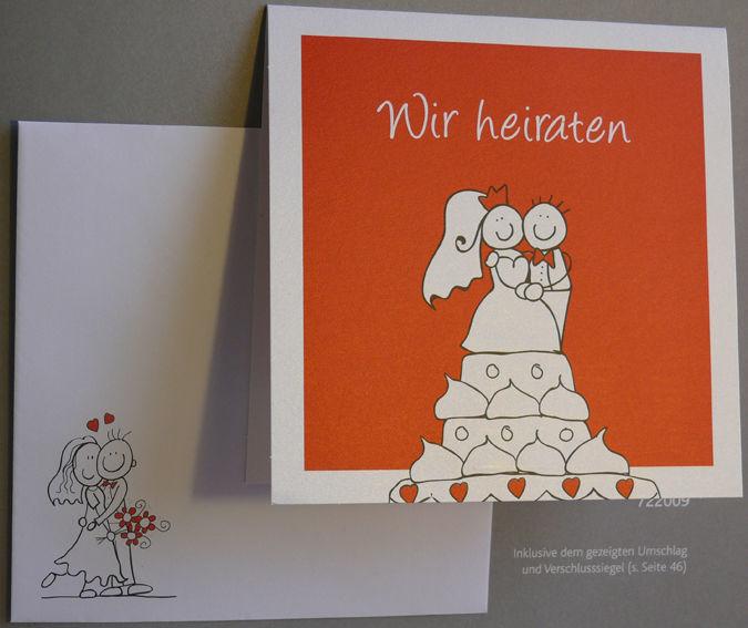 Beispiel: Innovative und witzige Einladungen zur Hochzeit, Foto: Druckerei Leue.