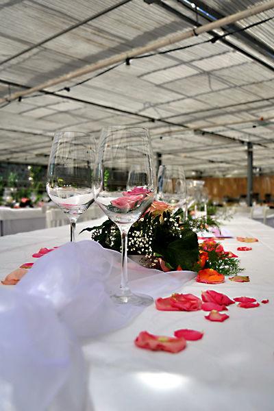 Beispiel: Tischdekoration, Foto: Klosterhof Neuburg.