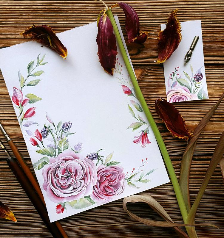 Разработка дизайна свадебных пригласительных для свадьбы в оттенке марсала. Основу композиции составили розы Девид Остин, которые входят в букет невесты. Для легкости добавила немного ягод. Далее осталось собрать макет для печати.