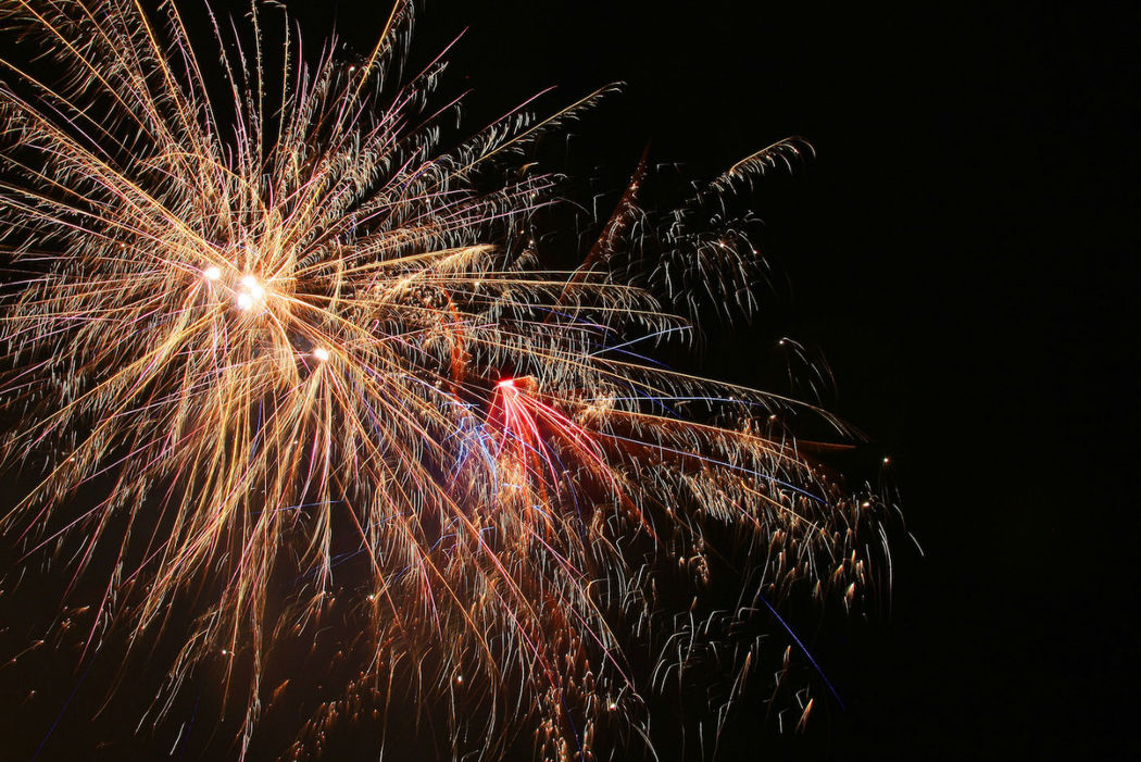 Beispiel: Feuerwerk, Foto: Reinweiss Hochzeiten.