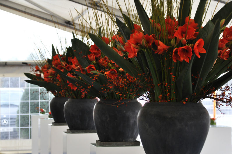 Beispiel: Blumenarrangements für Ihre Hochzeit, Foto: Puls Floristik.