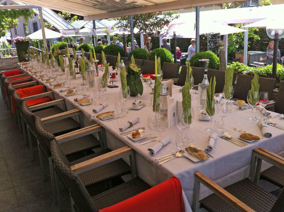 Beispiel: Liebevoll gestaltete Terrasse, Foto: Hotel Hirschen Dornbirn.