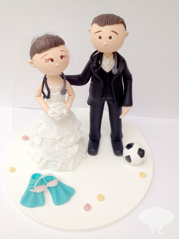 Topo de bolo, noivinhos, cake topper