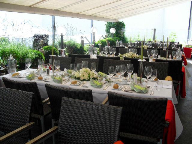 Beispiel: Terrasse, Foto: Hotel Hirschen Dornbirn.