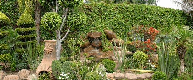 Excepcional diseño de jardines
