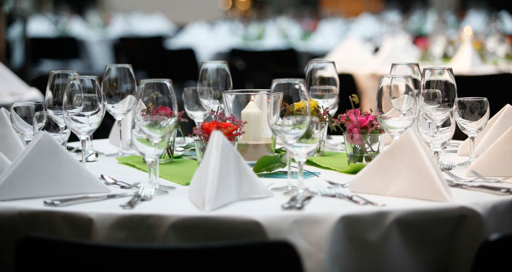 Beispiel: Tischdekoration, Foto: Altes Rathaus Hannover.