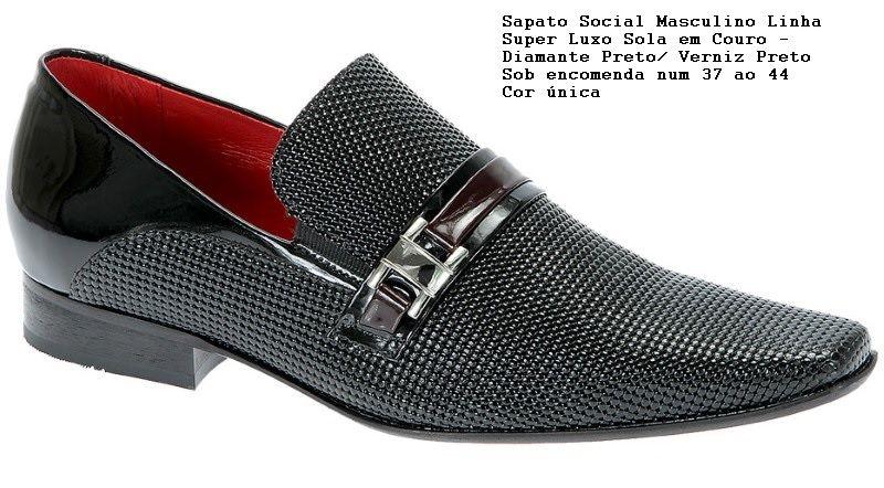 Sapato masculino. O noivo também precisa de um sapato lindo e confortável! Ref.1321 Cor - somente preta