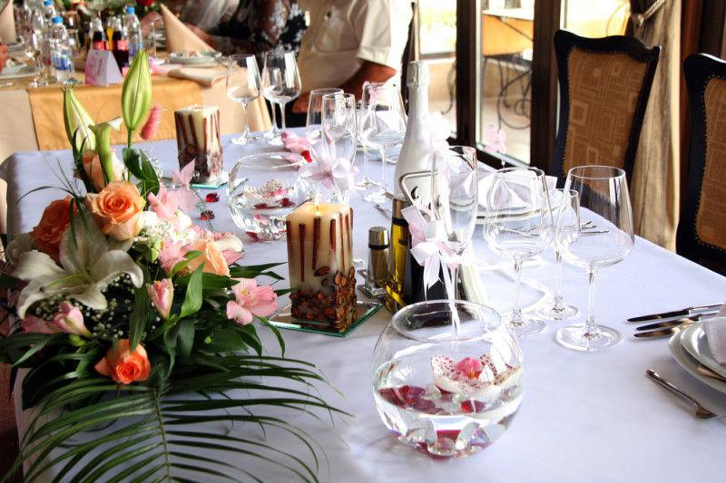 Beispiel: Tischdekoration, Foto: Blumen- und Gartencenter Wolf.