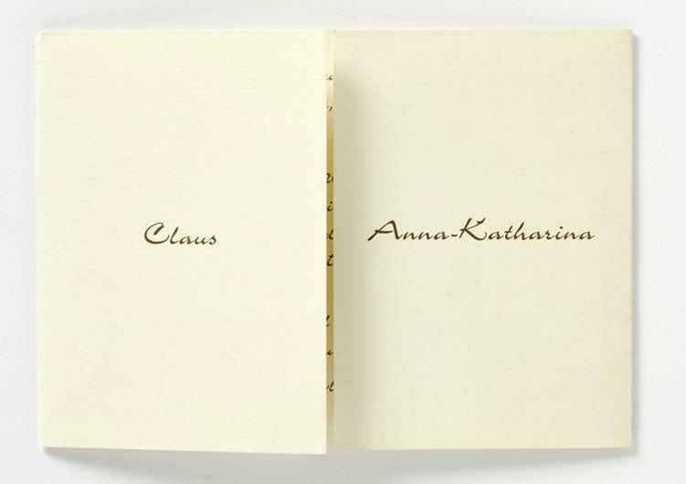 Beispiel: Gestalten Sie die Visitenkarte Ihrer Hochzeit, Foto: Druckerei Friesl.