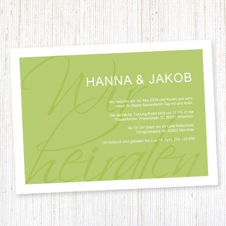 Laden Sie stilvoll zur Hochzeit Foto: wunderkarten.de