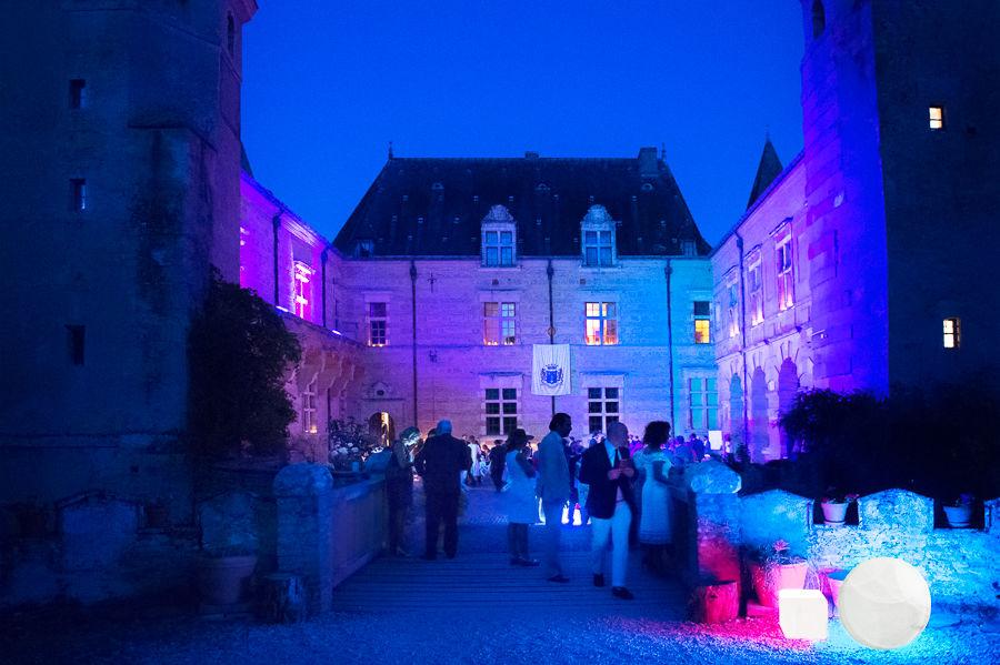 Château de Caumont illuminé